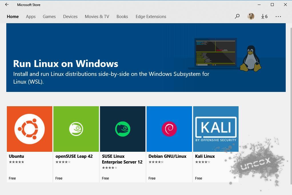 Distro های رایج قابل نصب در Microsoft Store
